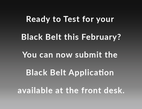 Black Belt Application