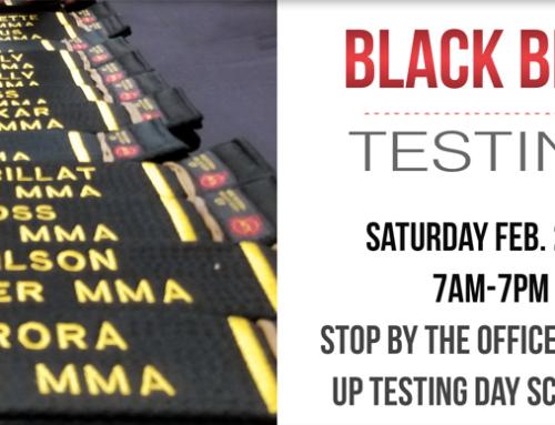 Black Belt Testing 2017
